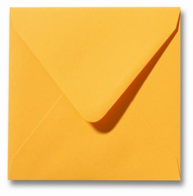10 Envelop 16x16 cm Roma Goudgeel