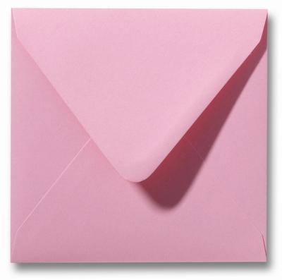 16 Envelop 16x16 cm Roma Donkerroze