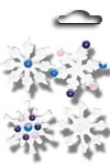 Accents 3D stickers snowflake