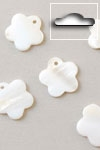 Buttons ass. 1 pk. a 6 st. natural flower river shell