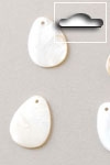 Buttons ass. 1 pk. a 10 st. natural small flower river shell