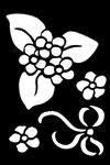 Embossing stencil 8x6 cm.bloem