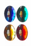 Rhinestones ovaal 10x14 mm 20 donker assortiment