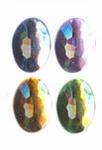 Rhinestones ovaal 13x18 mm 15x licht assortiment
