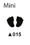 Picture punch mini 0,95 cm Baby voetjes