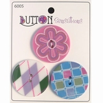 Button Sensations 3x Icy 3,4 cm