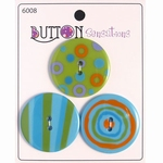 Button Sensations 3x Citrus 3,4 cm