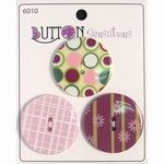Button Sensations 3x Vintage 3,4 cm