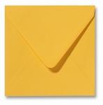 10 Envelop 14x14 cm Fiore Geel
