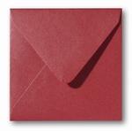 11 Envelop 14x14 cm Metallic Rosso