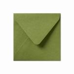 12 Envelop 14x14 cm Metallic Olive