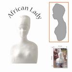 Powertex african lady volvorm