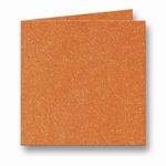 09 Metallic Dubbele kaart 13x13 CM Orange Glow