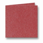 10 Metallic Dubbele kaart 13x13 CM Rosso