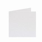 01 Metallic Dubbele kaart 15x15 CM White per stuk