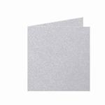 03 Metallic Dubbele kaart 15x15 CM Platinum per stuk