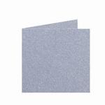 04 Metallic Dubbele kaart 15x15 CM Silver per stuk