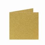 06 Metallic Dubbele kaart 15x15 CM Gold per stuk