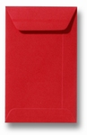 13 Envelop 6,5x10,5 cm (loonzakje) Roma Koraalrood