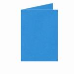 06 Dubbele kaart Staand 10,5x15 CM Roma Koningsblauw p.st.
