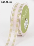 LT PINK/GREEN Solid Band Edge / Square Print 22 mm