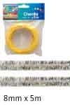 Chenilledraad 8mm rol à 5m zilver