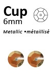 Pailletten cup metallic 6mm 5g +/-500x zakje goud
