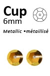 Pailletten cup metallic 6mm 5g +/-500x zakje geelgoud