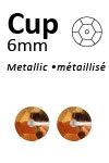 Pailletten cup metallic 6mm 5g +/-500x zakje antiekgoud