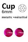 Pailletten cup metallic 6mm 5g +/-500x zakje pink