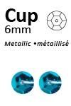 Pailletten cup metallic 6mm 5g +/-500x zakje turquoise