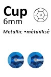 Pailletten cup metallic 6mm 5g +/-500x zakje blauw