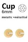 Pailletten cup pastel 6mm 5g +/-500x zakje donkergeel