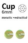Pailletten cup pastel 6mm 5g +/-500x zakje geel-groen