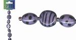 Beadchain rond/ovaal 17 cm. paars