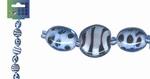 Beadchain rond/ovaal 17 cm. l.blauw