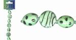 Beadchain rond/ovaal 17 cm. mintgroen