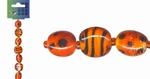 Beadchain rond/ovaal 17 cm. oranjerood