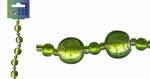 Beadchain rond/rond 17 cm. groen