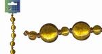 Beadchain rond/rond 17 cm. d.geel