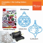 Marianne Design Creatables christmas ornaments