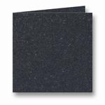 14 Metallic Dubbele kaart 13x13 CM Black