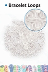 Bracelet loops S-clips x50