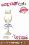 CottageCutz Elegant Champagne Glass (Elites) (CCE-131)