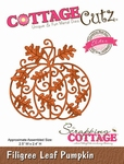 Cottage Cutz Filigree Leaf Pumpkin (Elites) (CCE-071)