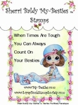 Sentiments Positively Penelope 2 Clear Rubber Stamp