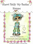 Patchwork Pattie Clear Rubber Stamp