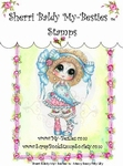 Messy Bessy Frilly Lilly Clear Rubber Stamp