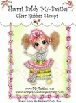 Curley Sue Clear Rubber Stamp