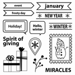 Set Of Clear Stamps 10,5x10,5 cm Happy Holiday Spirit Of Giv
